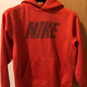 Nike hoodie orange pulled over size M